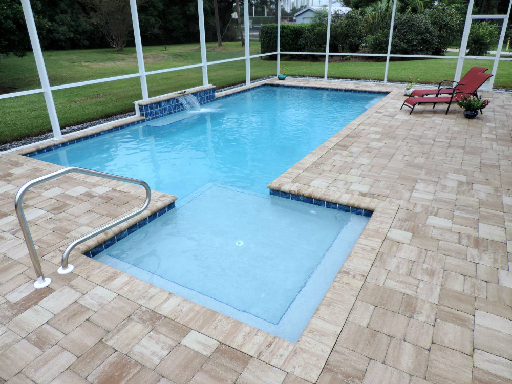 Sun shelves are shallow for mom to lay out in the sun or a Wade shelf for the kiddos to feel safe. whatever you choose Martin Pools can make it happen with ease.